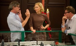 Director Todd Haynes and Cate Blanchett on the set of CAROL
