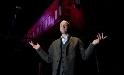 Illusionist Derren Brown takes an exclusive behind the scenes tour of his new 'Derren Brown's Ghost Train', ahead of it's public opening at the end of May, at Thorpe Park Resort in Surrey. Photo. Picture date: Thursday May 5, 2016. The 'Ghost TrIllusion