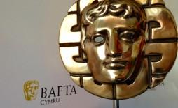 Bafta Cymru mask and backdrop