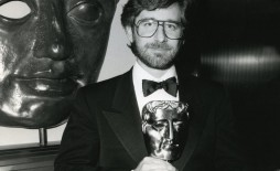 Steven Spielberg with his BAFTA Fellowship Award - 1986