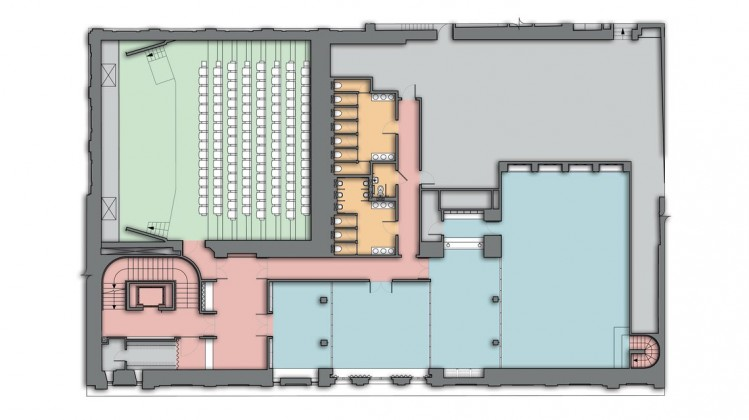 195 Piccadilly - second floor rendered plan