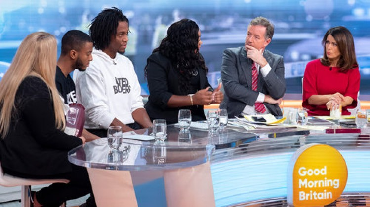 'Good Morning Britain' TV show, London, UK - 12 Nov 2018