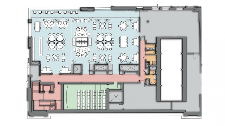 195 Piccadilly - fourth floor rendered plan