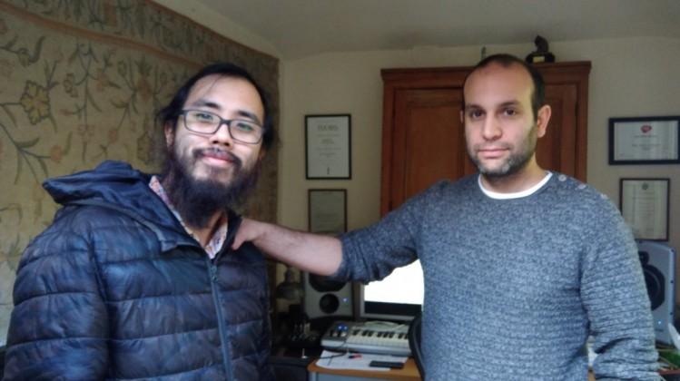 BAFTA Scholar Edward Lun with mentor Ilan Eshkeri