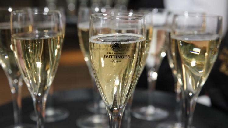 Champagne Taittinger flutes