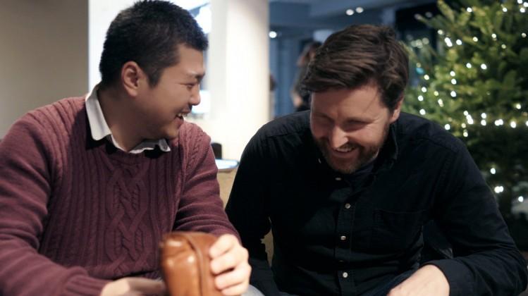 BAFTA Scholar Zhizi Hao with mentor Andrew Haigh (December 2017)