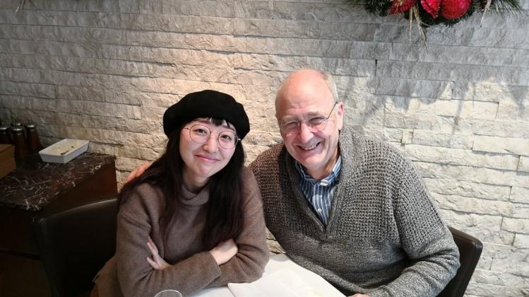 BAFTA Scholar Yanling Wang with mentor Steve Clark-Hall