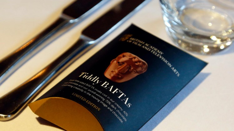 Place setting and Hotel Chocolat's Tiddly BAFTAs