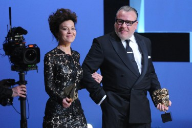 Helen McCrory and Ray Winstone at the BAFTA Film Awards in 2014