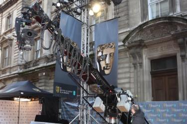 The BAFTA Film Awards red carpet in 2014