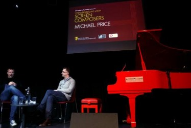 Conversations With Screen Composers: Michael Price (Sherlock, Lord of the Rings, Love Actually) at the Royal Albert Hall on 31 March 2014. Hosted by broadcaster Tommy Pearson.