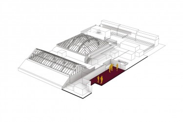 195 Piccadilly Axonometric Roof