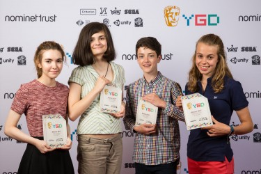 Event: BAFTA Young Game Designers AwardsDate: Saturday 8 July 2017Venue: BAFTA, 195 PiccadillyHosts: Dev Griffin & Georgie Barrat -Area: Winners Branding Board