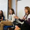 Panellists Dr. Sarah Dargie, Timea Tabori and Dr. Jo Twist